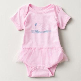 Body Para Bebê Bodysuit do tutu do rosa da baleia de Wally