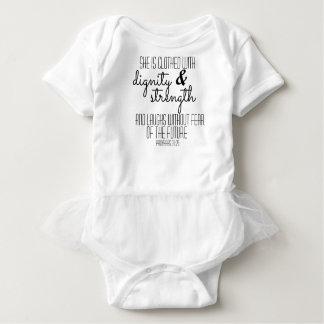 Body Para Bebê Bodysuit do tutu dos provérbio 31