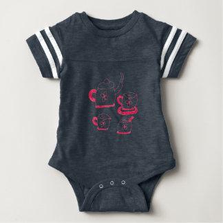 Body Para Bebê Bodysuit dos bebês do esporte do tempo do chá
