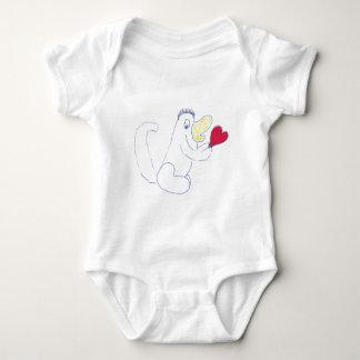 Body Para Bebê Bodysuit dos bebês do jérsei do inseto do amor
