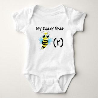 Body Para Bebê Bodysuit engraçado da abelha para o bebê. Meu pai