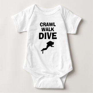 Body Para Bebê Bodysuit engraçado do bebê do mergulho autónomo do