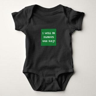Body Para Bebê Bodysuit FAMOSO original para jovens de aspiração!