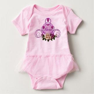 Body Para Bebê Bodysuit feericamente Jeweled do tutu do bebê do