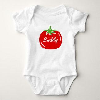 Body Para Bebê Bodysuit feito sob encomenda do tomate vermelho