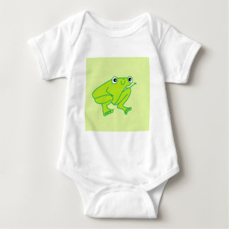 Body Para Bebê Bodysuit feliz do jérsei do bebê do sapo