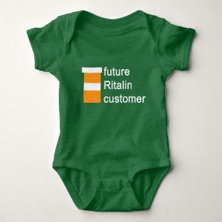 Body Para Bebê Bodysuit futuro do bebê do cliente do ritalin