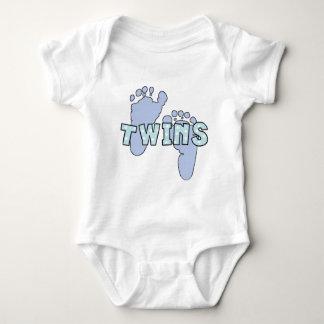 Body Para Bebê Bodysuit gêmeo das pegadas do bebé