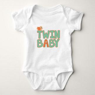 """Body Para Bebê Bodysuit gêmeo do jérsei do bebê do bebê """"A"""""""