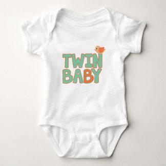 """Body Para Bebê Bodysuit gêmeo do jérsei do bebê do bebê """"B"""""""