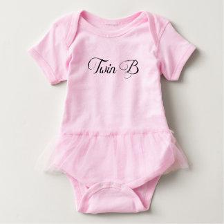 """Body Para Bebê Bodysuit gêmeo gêmeo B"""" do tutu do rosa do """"da"""