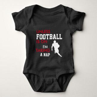 Body Para Bebê Bodysuit GRANDE do bebê do fan de futebol
