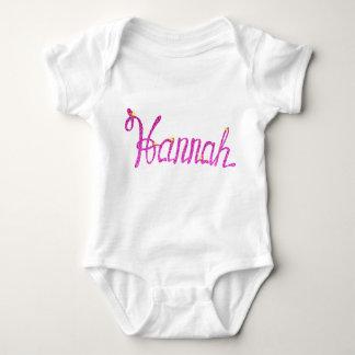 Body Para Bebê Bodysuit Hannah do jérsei do bebê