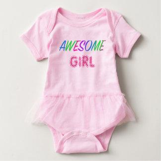 Body Para Bebê Bodysuit impressionante do tutu do bebê do rosa da
