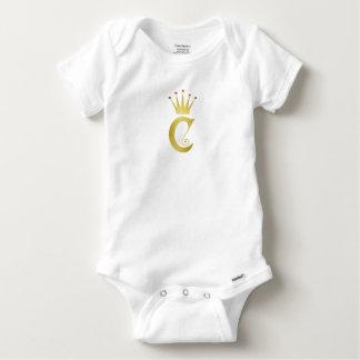 Body Para Bebê Bodysuit inicial do bebê do monograma da letra do