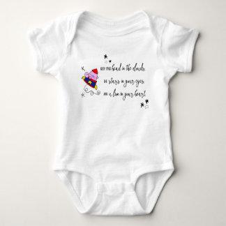 Body Para Bebê bodysuit inspirado das citações do gato do foguete