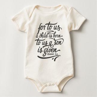 Body Para Bebê Bodysuit inspirado do verso   da bíblia do Natal