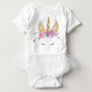 Body Para Bebê Bodysuit mágico do tutu do bebé do unicórnio