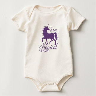 Body Para Bebê Bodysuit mágico do unicórnio de 12 meses