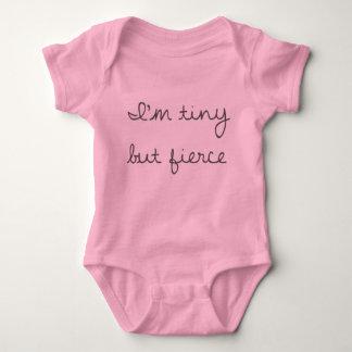 Body Para Bebê Bodysuit minúsculo mas feroz do jérsei do bebê