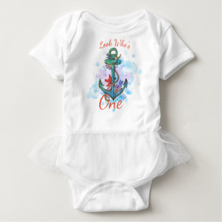 Body Para Bebê bodysuit náutico do aniversário da sereia da