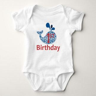Body Para Bebê Bodysuit náutico do menino do aniversário da