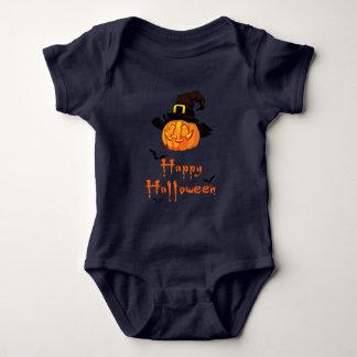 Body Para Bebê Bodysuit o Dia das Bruxas feliz do jérsei do bebê