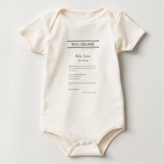 Body Para Bebê Bodysuit orgânico da especiaria do bebê