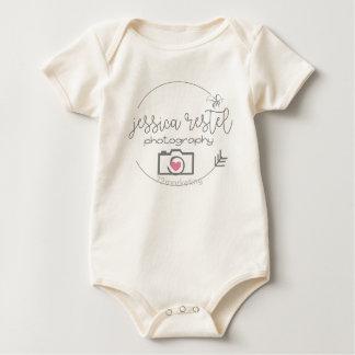 Body Para Bebê Bodysuit orgânico do bebê da fotografia de Jessica