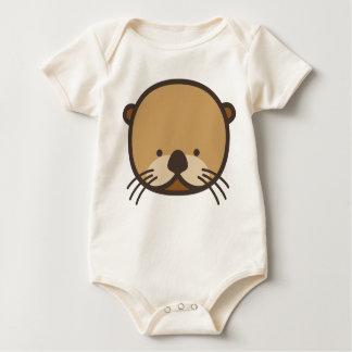 Body Para Bebê Bodysuit orgânico do bebê da lontra de WeeOnez