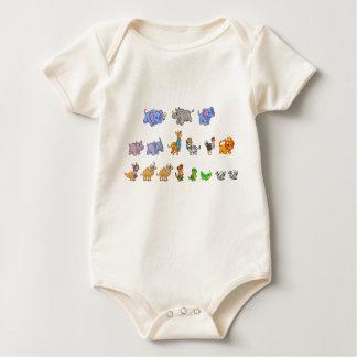 Body Para Bebê Bodysuit orgânico do bebê da parada animal