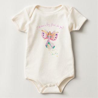 """Body Para Bebê """"Bodysuit orgânico do bebê do amigo feericamente"""""""