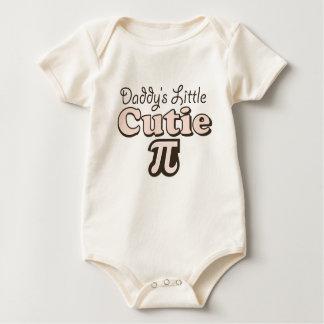 Body Para Bebê Bodysuit orgânico do bebê do Cutie Pi do pai pouco