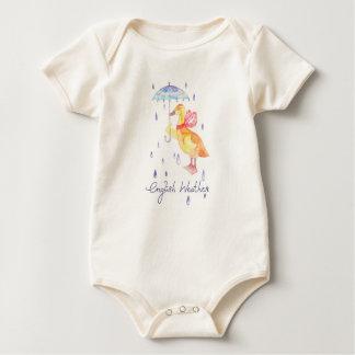 "Body Para Bebê ""Bodysuit orgânico do bebê do tempo inglês"""