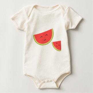 Body Para Bebê Bodysuit orgânico do bebê feliz da melancia
