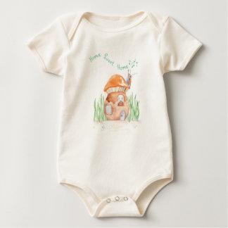 """Body Para Bebê """"Bodysuit orgânico"""" do bebê Home doce Home"""