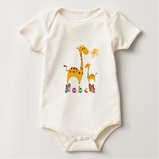 Body Para Bebê Bodysuit orgânico do roupa americano do girafa