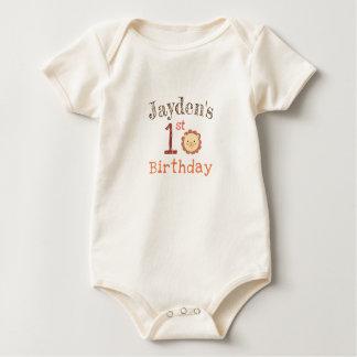 Body Para Bebê Bodysuit orgânico personalizado do primeiro