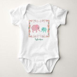 Body Para Bebê Bodysuit Pastel bonito do bebê do elefante