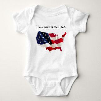 Body Para Bebê Bodysuit patriótico do jérsei do bebê
