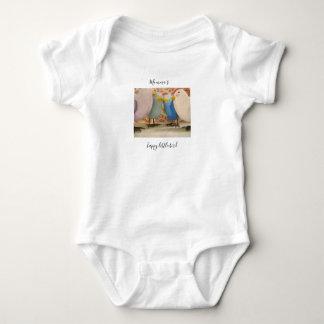 Body Para Bebê Bodysuit pequeno feliz do pássaro de Momma