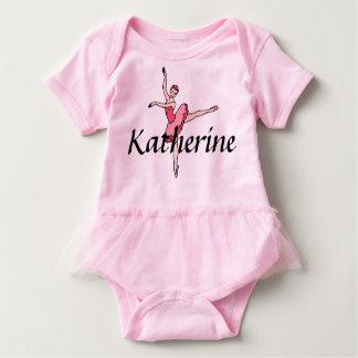 Body Para Bebê Bodysuit personalizado do bebê da bailarina