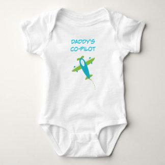 Body Para Bebê Bodysuit piloto do jérsei do bebê do Co do pai