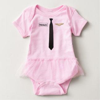 Body Para Bebê Bodysuit piloto personalizado, roupa da aviação