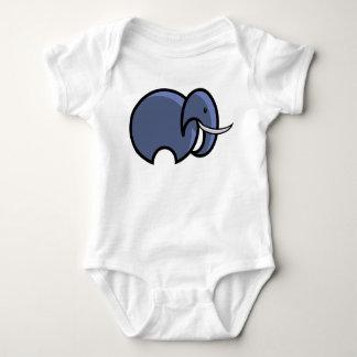 Body Para Bebê Bodysuit simples do bebê do elefante