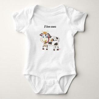 Body Para Bebê Bodysuit suíço do jérsei do bebê da vaca