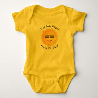 Body Para Bebê Bodysuit total do bebê do eclipse solar