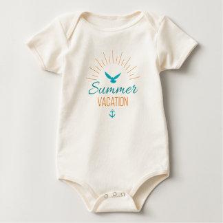 Body Para Bebê Bodysuit tropical simples das férias de verão |