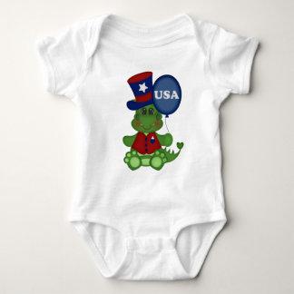 Body Para Bebê Bodysuit unisex julho do bebê patriótico do dragão