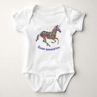 Body Para Bebê Bodysuit verdadeiro do bebê do unicórnio